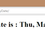 How to Show Current Date in JSP Page
