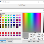 Python Tkinter – Color Chooser Example