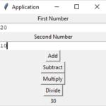 Python Tkinter – Simple Arithmetic Application